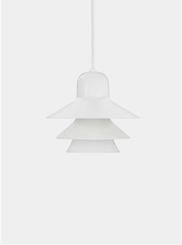 White Ikono Small EU Lamp