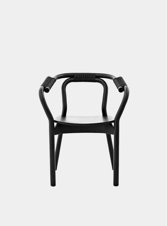 Black / Black Knot Dining Chair
