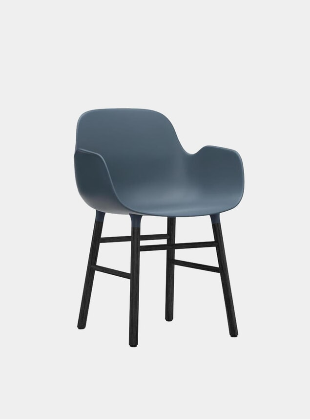 Black / Blue Form Armchair
