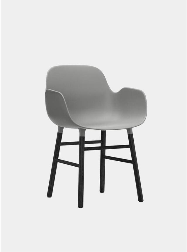 Black / Grey Form Armchair