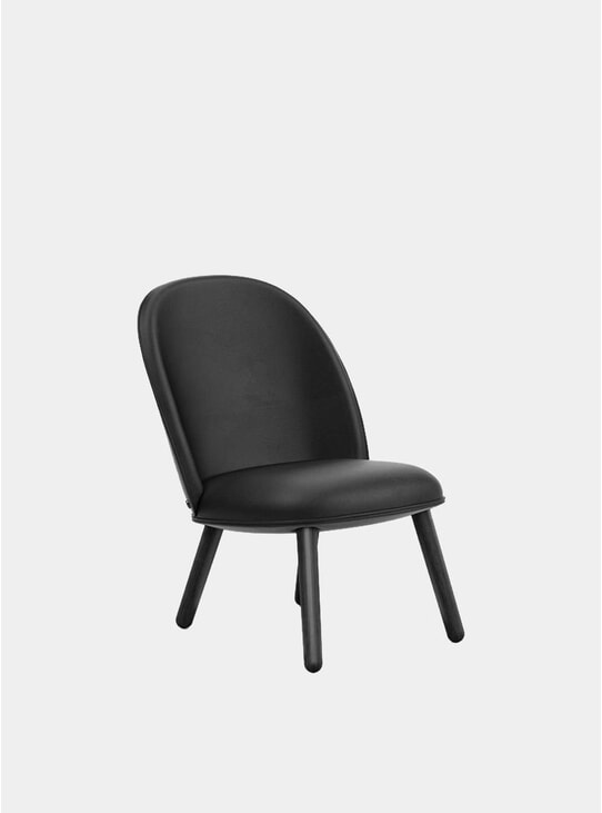 Black Leather Ace Lounge Chair