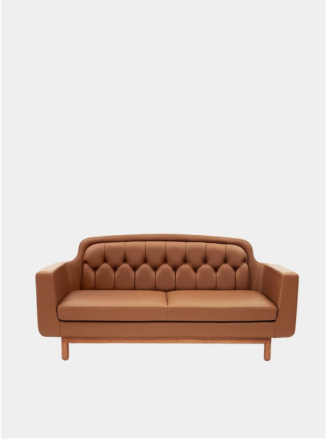 Cognac Leather 2 Seater Sofa