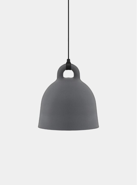 Grey Pendant Bell Lamp