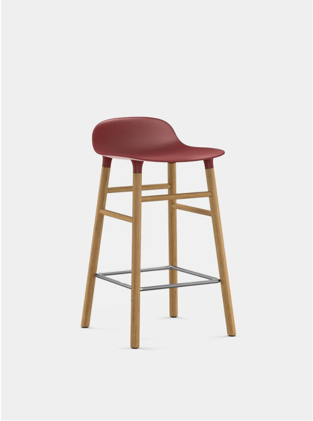 Red Form Bar Stool