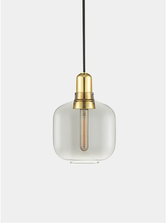 Smoke / Brass Small Amp Lamp