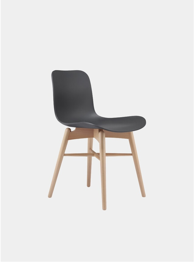 Anthracite Black / Natural Langue Dining Chair