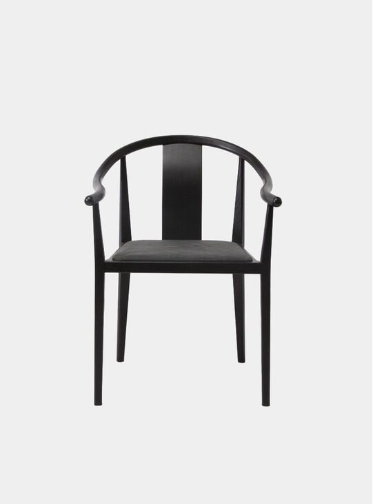 Anthracite Leather / Black Shanghai Dining Chair