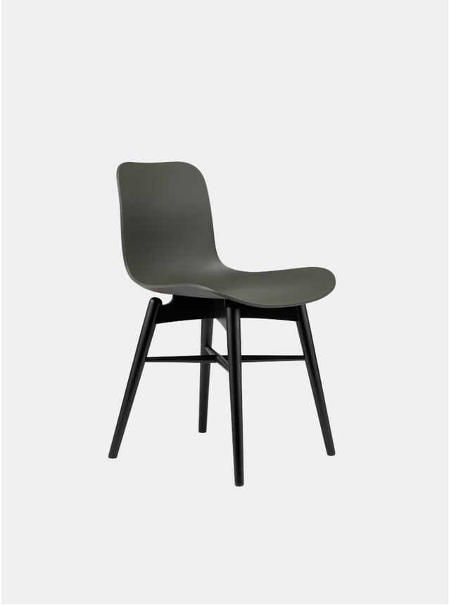 Army Green / Black Beech Dining Chair