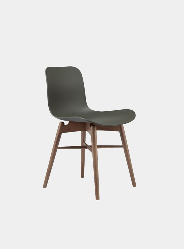 Army Green / Smoked Beech Dining Chair
