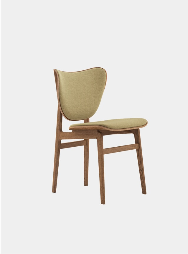 Beige Kvadrat / Smoked Oak Elephant Dining Chair