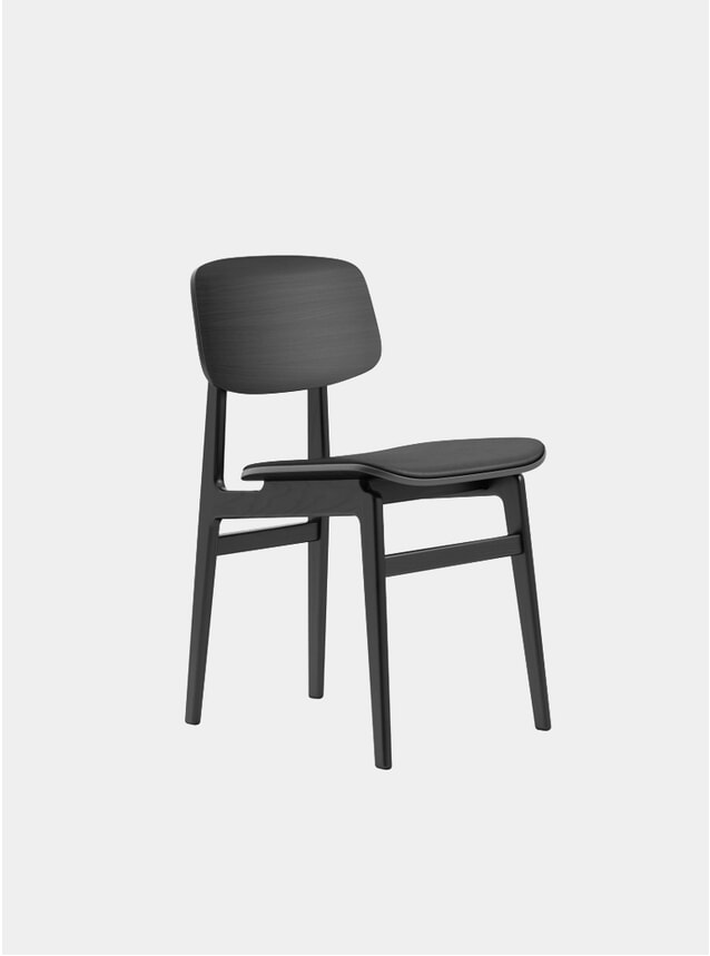 Black / Black Premium Leather NY11 Dining Chair