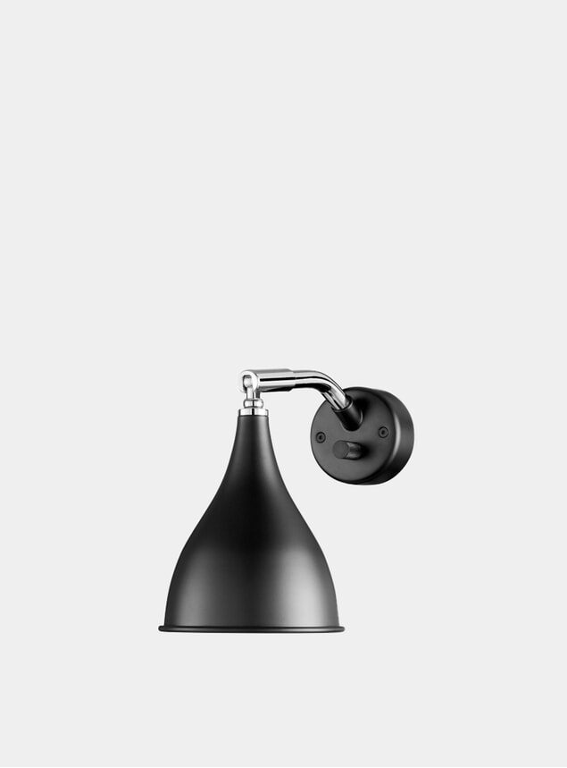 Black  Le Six Wall Light