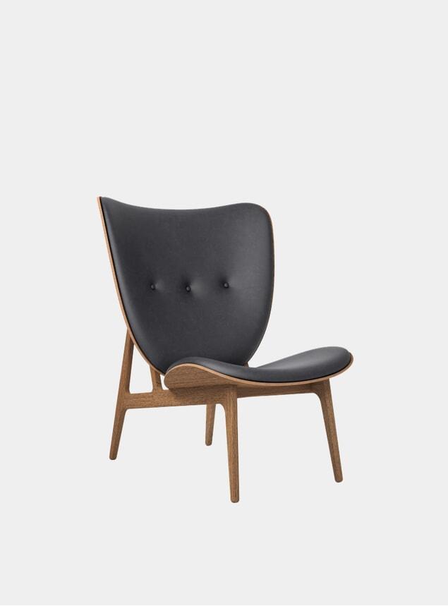 Black / Smoked Oak Elephant Chair