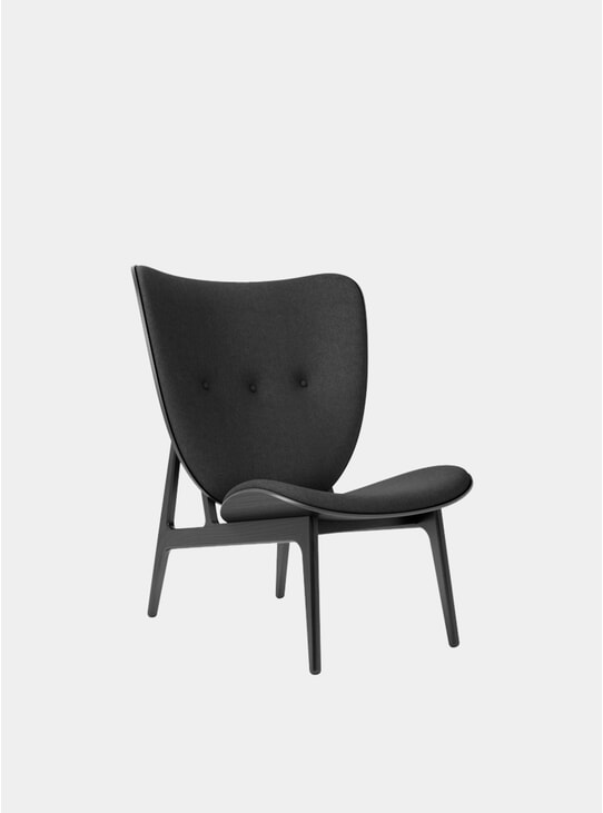 Black Wool /  Black Elephant Chair