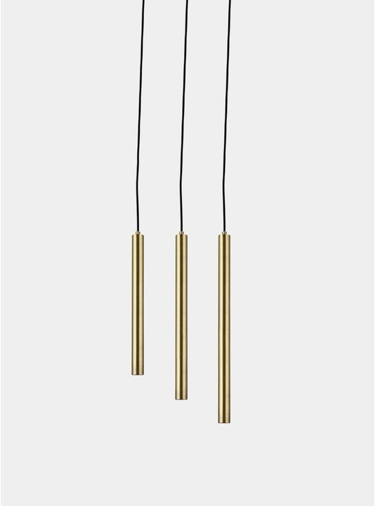 Brass / Black Pipe Set Pendant Light