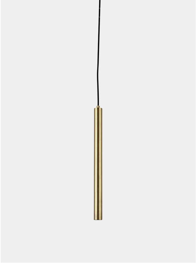 Brass / Black Pipe Three Pendant Light