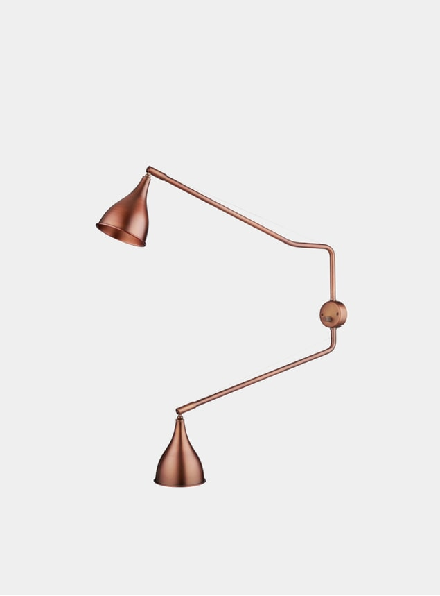Bronze Le Six Double Arm Wall Light