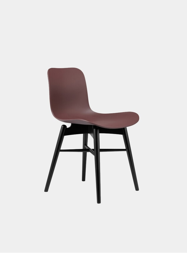 Burgundy / Black Beech Dining Chair