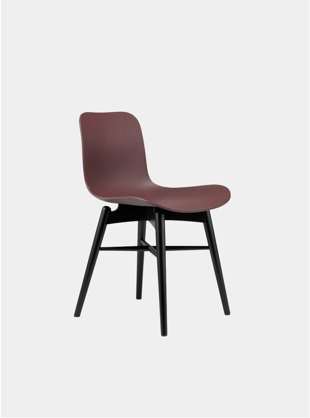 Burgundy / Black Beech Dining Chair