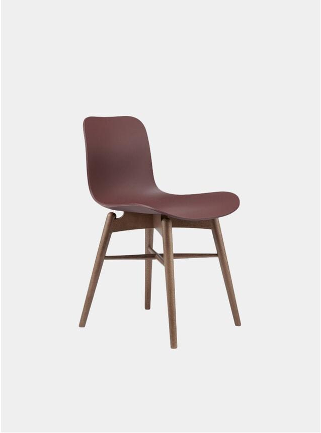 Burgundy / Smoked Beech Dining Chair