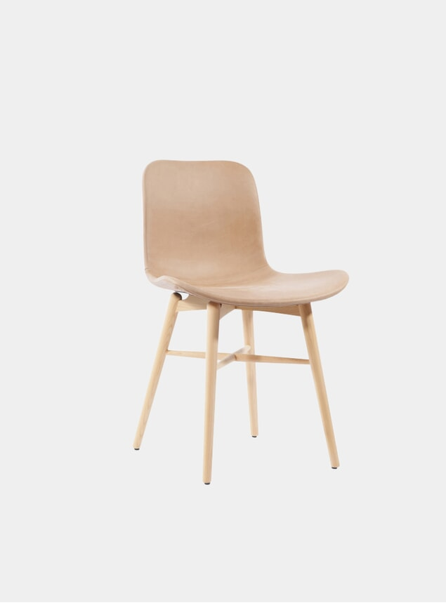 Camel Vintage Leather / Natural Dining Chair