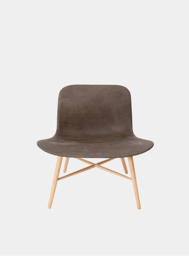 Carbon Brown / Natural Langue Original Lounge Chair