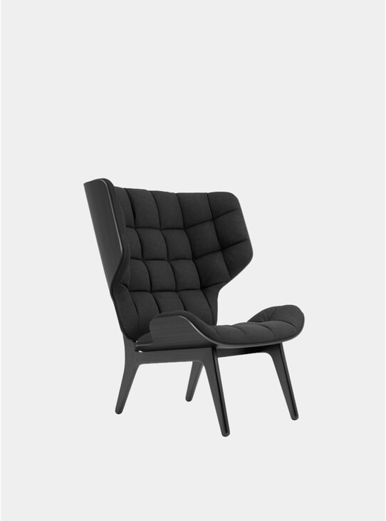 Coal Grey Wool / Black Mammoth Chair