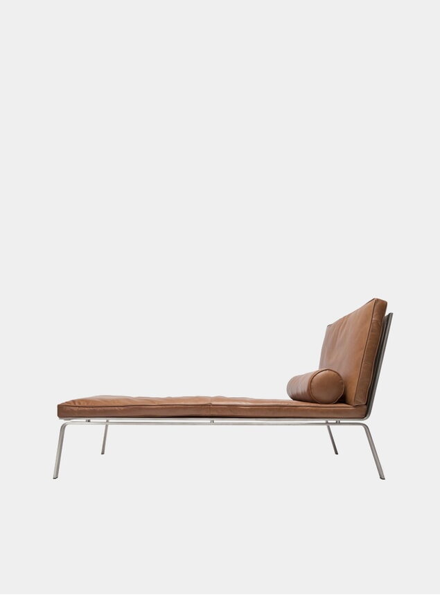 Cognac Leather Man Chaise Lounge