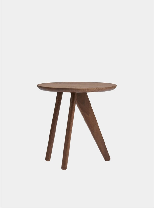 Dark Stained Fin Side Table