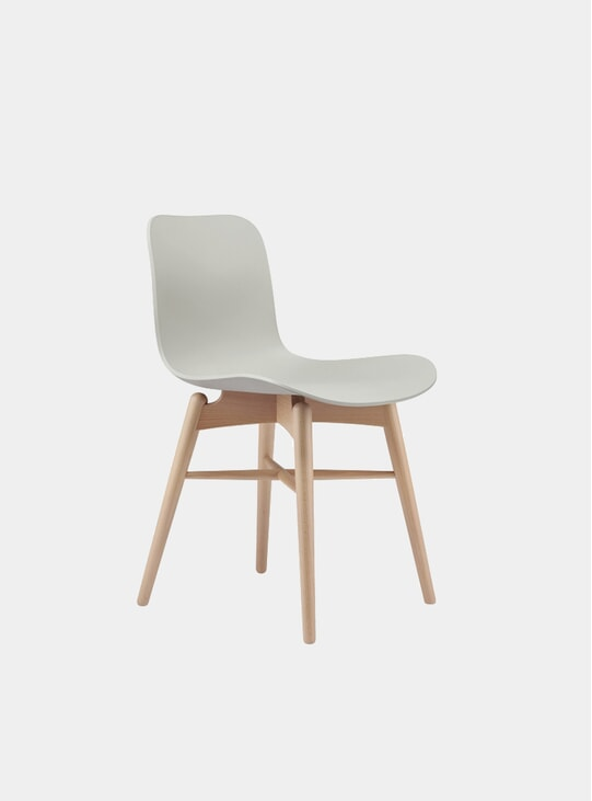 Flint Grey / Natural Langue Dining Chair