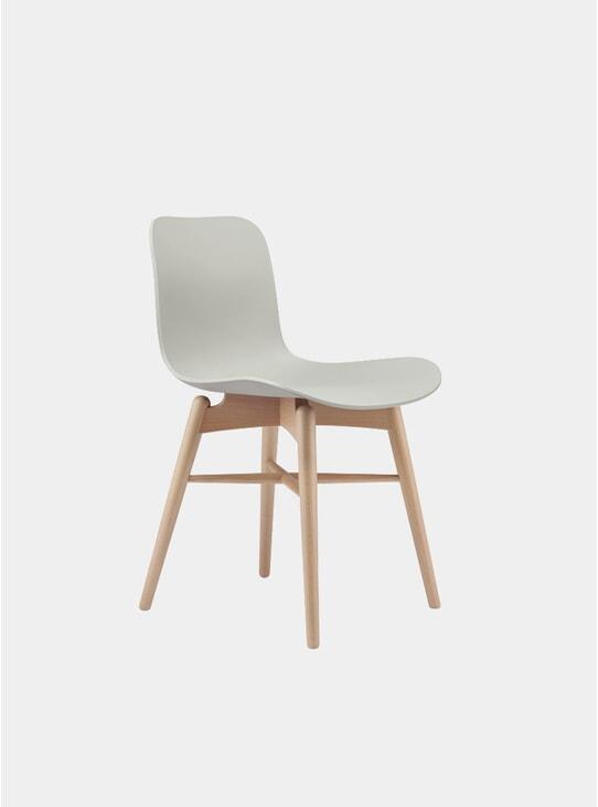 Flint Grey / Natural Langue Dining Chair