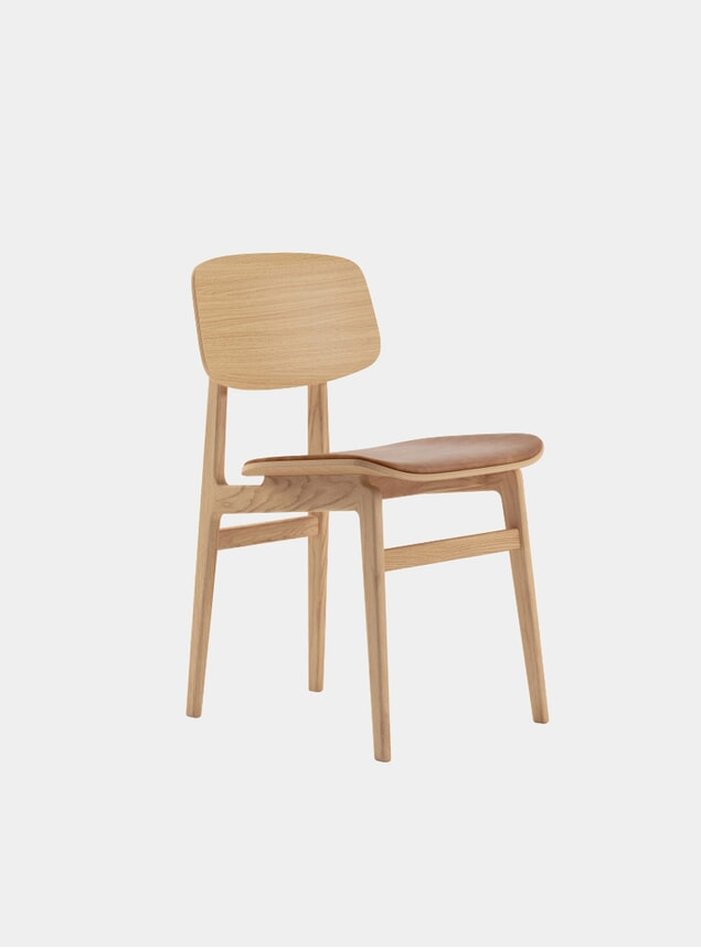 Natural / Camel Leather NY11 Dining Chair