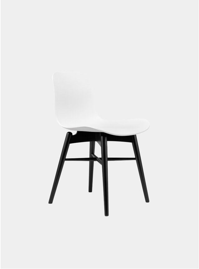 Off White / Black Beech Dining Chair