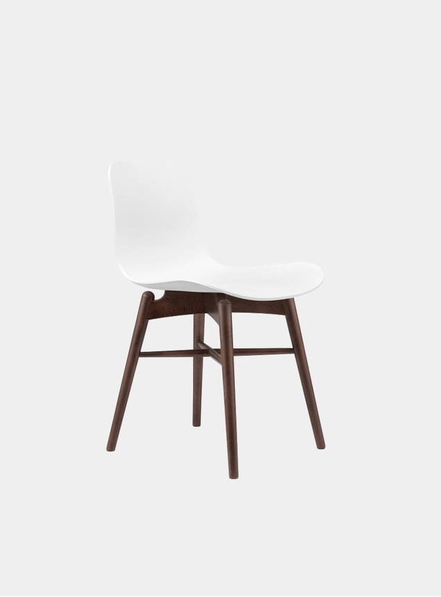 Off White / Dark Stained Dining Chair