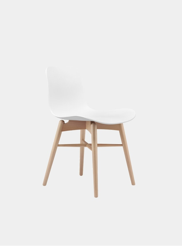 Off White / Natural Langue Dining Chair