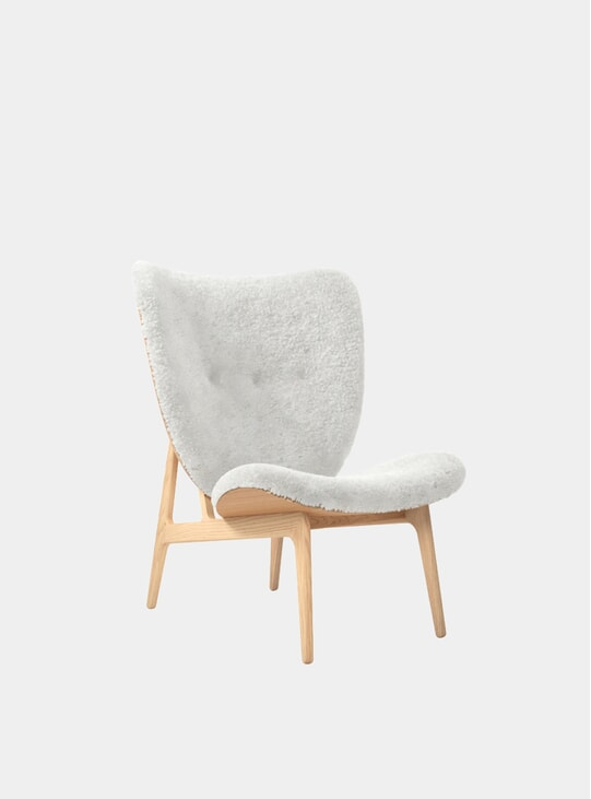 Sheepskin / Natural Elephant Chair