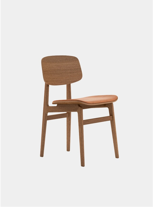 Smoked Oak / Cognac Leather NY11 Dining Chair