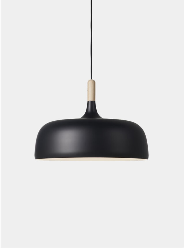 Black Acorn Pendant Light