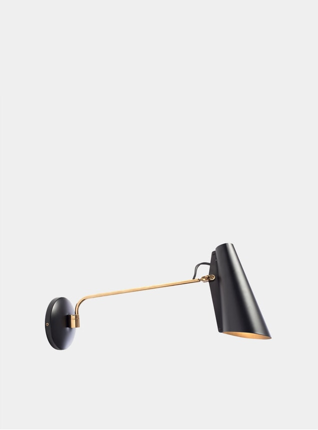 Black / Brass Birdy Wall Lamp
