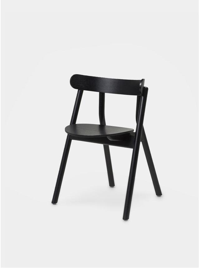 Black Painted Oak Oaki Dining Chair