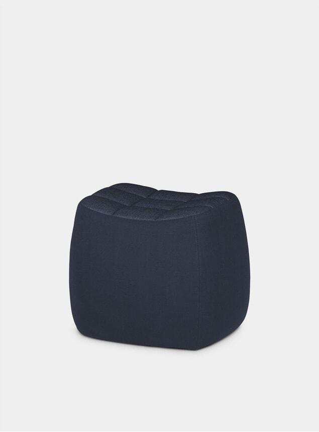 Dark Blue Small Yam Pouf