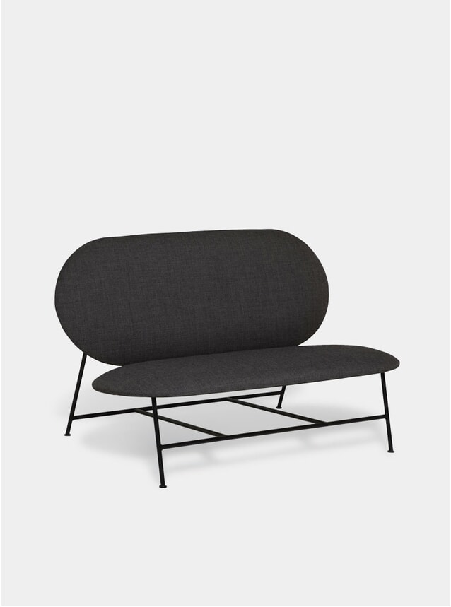 Dark Grey Oblong Sofa