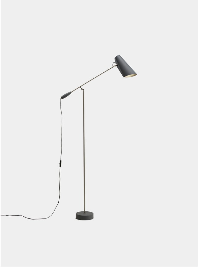 Grey / Metallic Birdy Floor Lamp
