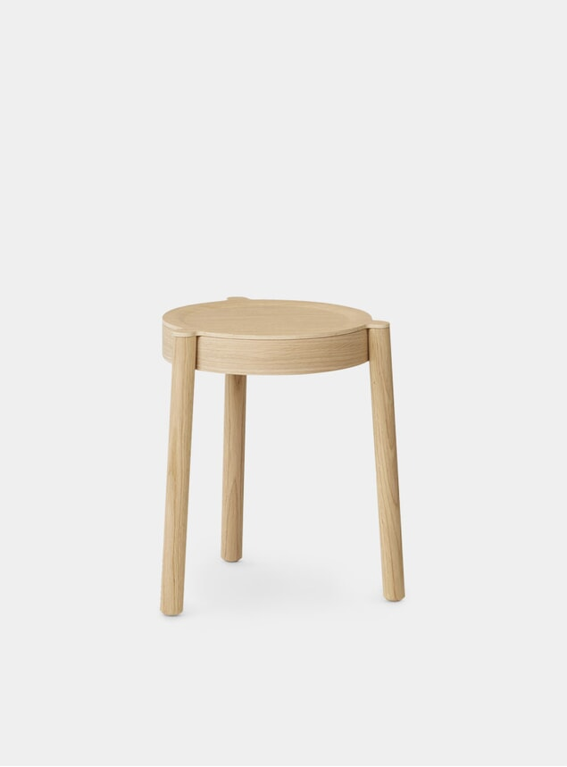 Light Oiled Oak / Wood Pal Stool