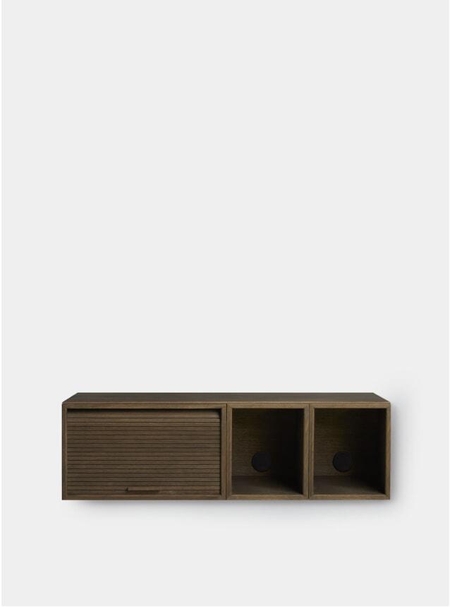 Smoked Oak Hifive 100cm Slim Wall Cabinet