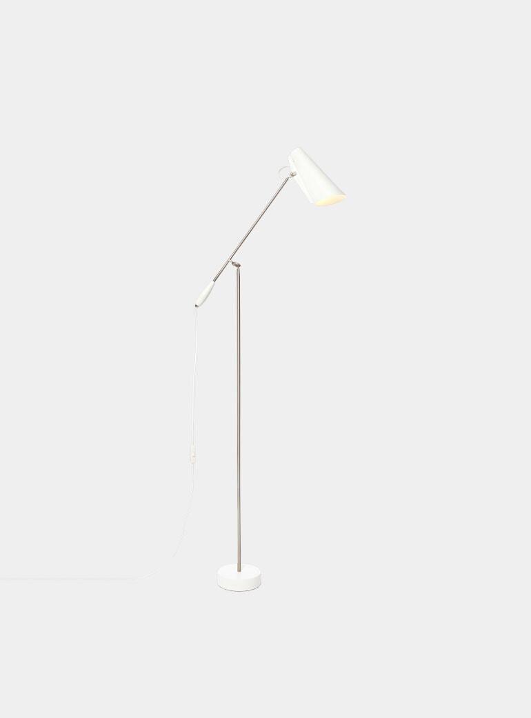 buy online ae4eb 29e66 White / Metallic Birdy Floor Lamp