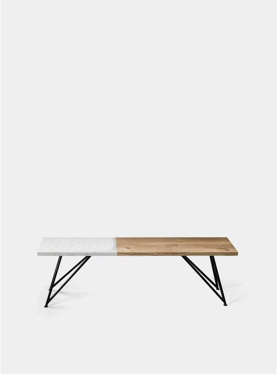 Marble Dip / Slim Oak Bench