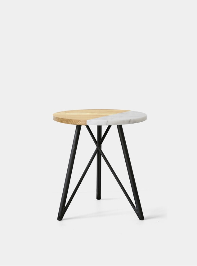 Marble Dip / Steel Side Table