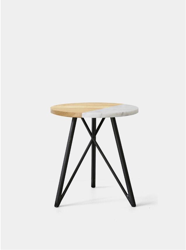 Marble Dip / Steel Side Table