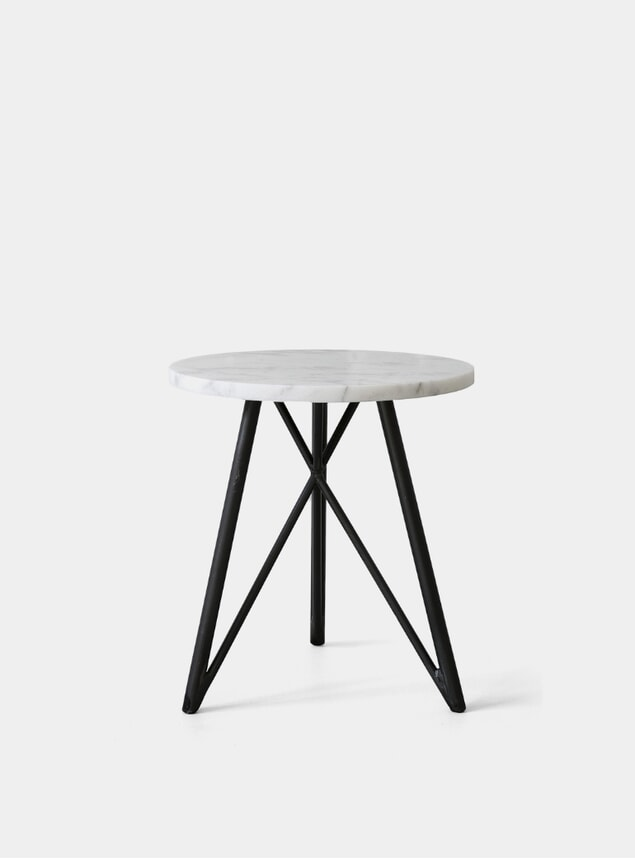 Marble / Steel Side Table